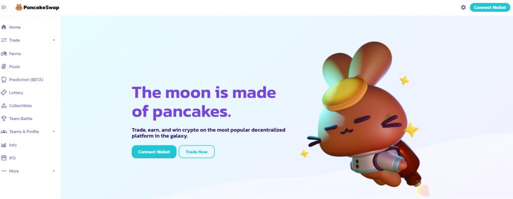 Pancake swap decentralised exchange